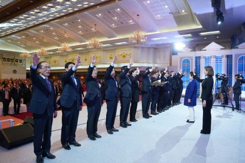 天地人真父母聖誕暨基元節六周年紀念之神統一韓國國民聯合會之誓師大會